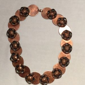 Vintage copper necklace 16""